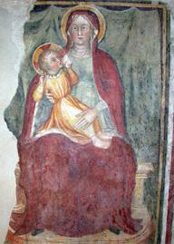 Affresco interno all'Oratorio di San Stefano